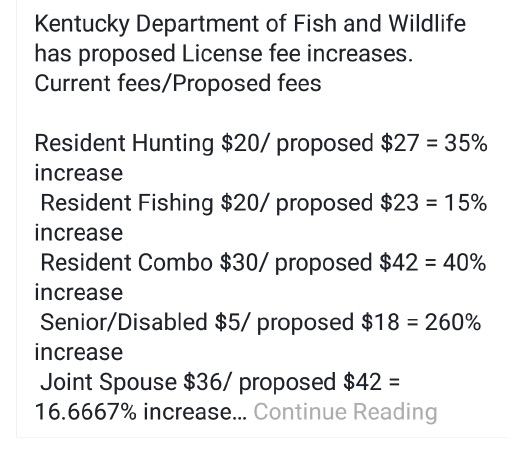Commission to vote on resident license fees kentucky hunting for Senior citizen fishing license
